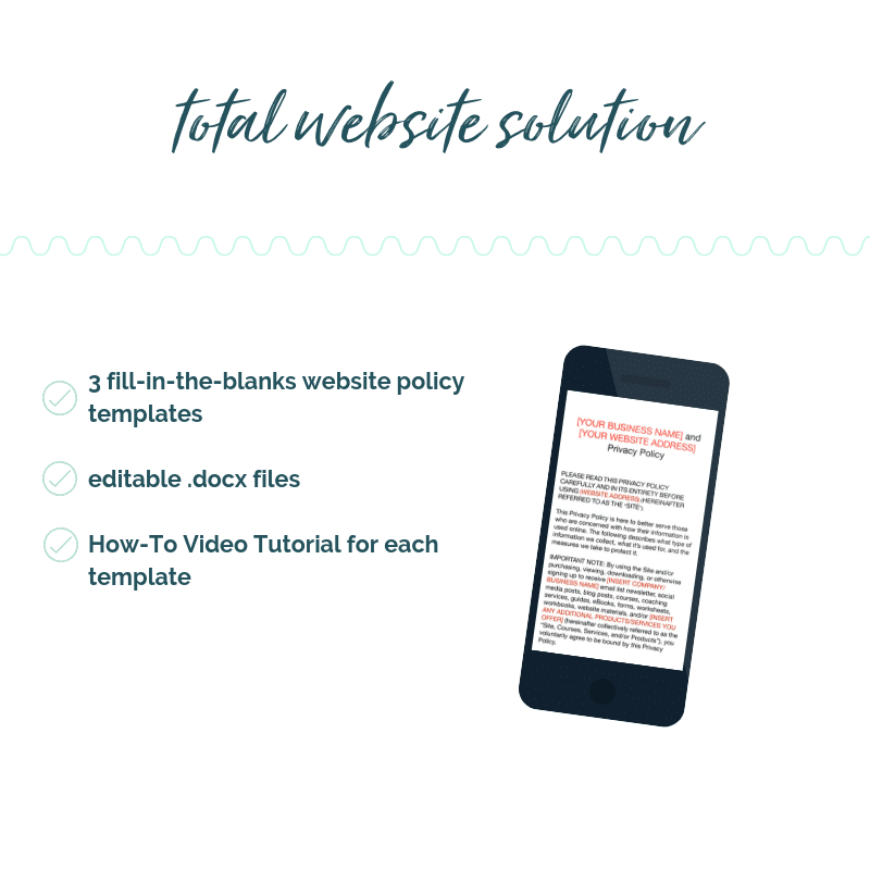 website policy templates. website templates. privacy policy template. disclaimer template. terms and conditions template. T&C template. sam vander wielen. legal templates.