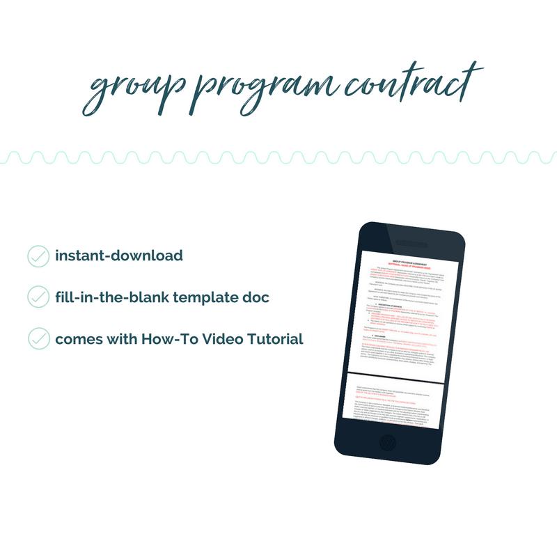 group coaching program contract
