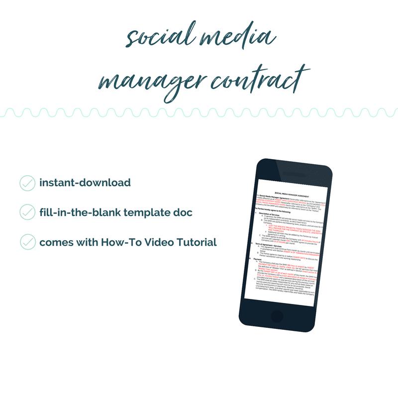 social media manager contract template diy legal templates sam vander wielen social media assistant contract coaches online entrepreneurs