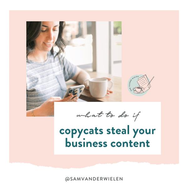 what to do if copycats steal your business content, sam vander wielen, copyright infringement, copyright theft, stolen content